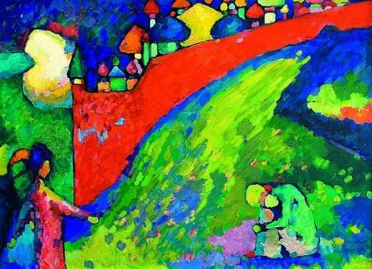 Kandinskij, il cavaliere errante in mostra al Mudec_Destino (Cupole), 1909 Olio su tela, cm 83 x 116 © Astrakhan State Picture Gallery after P. M. Dogadin, Astrakhan, Russia_MilanoPlatinum