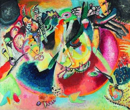 Kandinskij, il cavaliere errante in mostra al Mudec_Improvvisazione sulle forme fredde, 1914 Olio su tela, cm 119 x 139 Mosca, Galleria Tret'jakov © State Tretyakov Gallery, Moscow, Russia_MilanoPlatinum