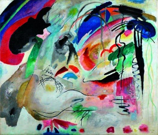 Kandinskij, il cavaliere errante in mostra al Mudec_Improvvisazione 34 (Oriente II), 1913 Olio su tela, cm 120 x 140 Kazan', Museo di Belle Arti © State Museum of Fine Arts of the Republic of Tatarstan, Kazan, Russia_MilanoPlatinum