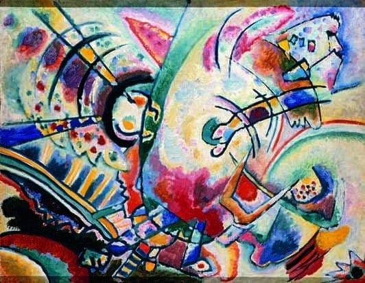 Kandinskij, il cavaliere errante in mostra al Mudec_Non-obiettivo (Le naïves), 1910 Olio su tela, cm 50 × 66 Krasnodar, Museo Regionale d'Arte © Krasnodar Regional Arts Museum after F. A. Kovalenko, Krasnodar, Russia_MilanoPlatinum