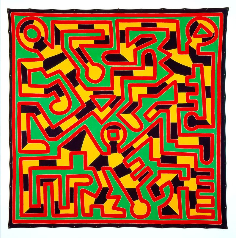 Keith-Haring,-Untitled,-May-22-1988,-acrilico-su-tela,-305,82-x-305,82-cm,-New-York,-Tony-Shafrazi-Gallery-©-Keith-Haring-Foundation