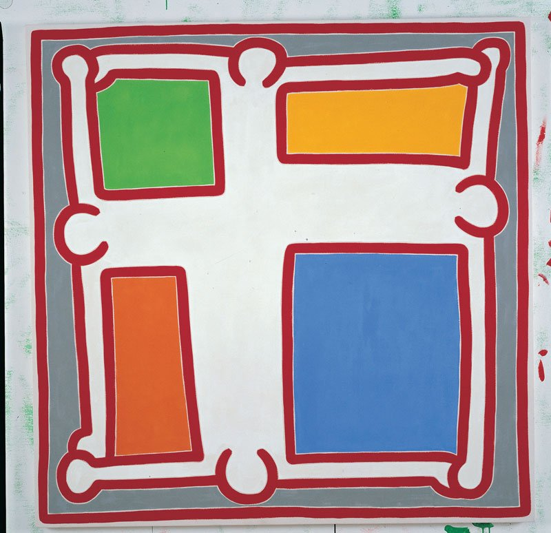 Keith-Haring,-Untitled-No.-6,-1988,-acrilico-su-tela,-152,4-x-152,4-cm,-Collezione-privata-©-Keith-Haring-Foundation