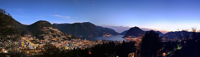 Panorama da Porza verso Lugano
