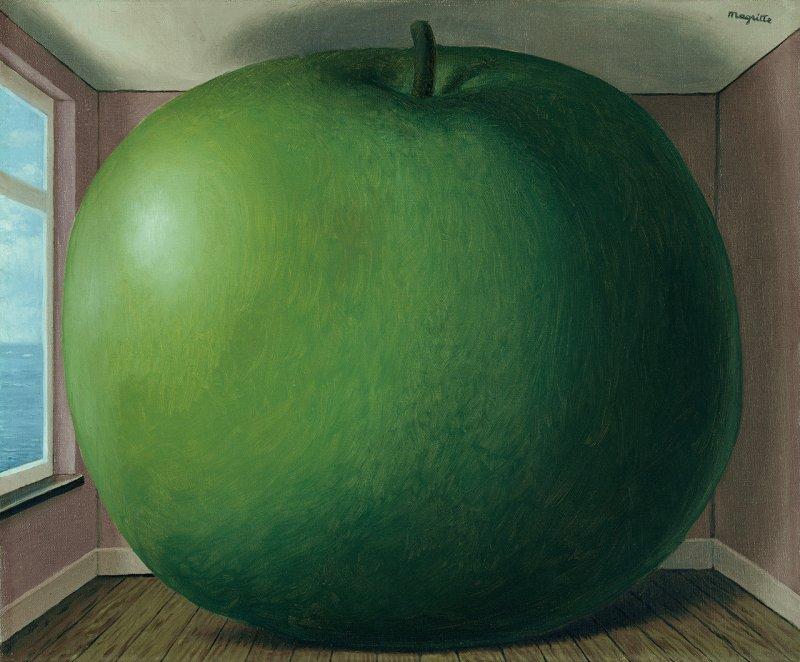 René Magritte: La chambre d'écoute, 1958