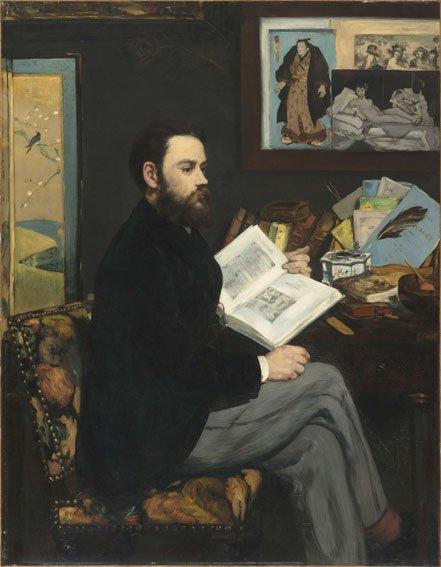 Édouard Manet, Émile Zola, 1868, Olio su tela, 146 x 114 cm, Parigi, Musée d'Orsay © René-Gabriel Ojéda / RMN-Réunion des Musées Nationaux/ distr. Alinari