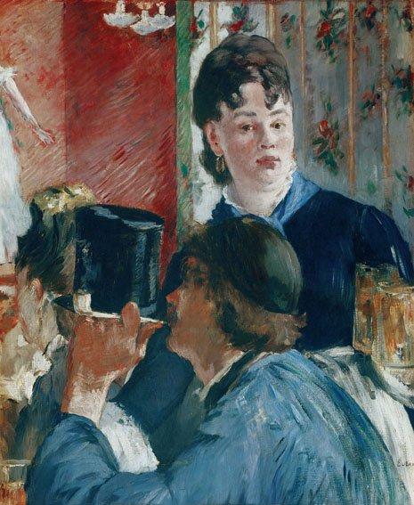 Édouard Manet, La cameriera della birreria, 1878-1879, Olio su tela, 77 x 64,5 cm, Parigi, Musée d'Orsay © René-Gabriel Ojéda / RMN-Réunion des Musées Nationaux/ distr. Alinari