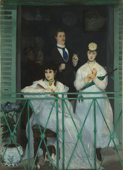 Édouard Manet, Il balcone, 1868-1869, Olio su tela, 170 x 125 cm, Parigi, Musée d'Orsay © René-Gabriel Ojéda / RMN-Réunion des Musées Nationaux/ distr. Alinari