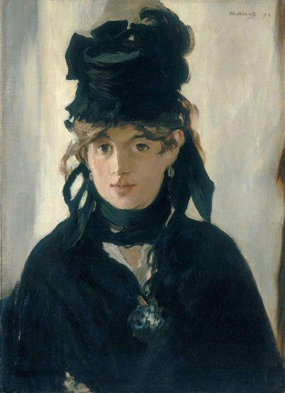 Édouard Manet, Berthe Morisot con un mazzo di violette, 1872, Olio su tela, 55,5 x 40,5 cm, Parigi, Musée d'Orsay © René-Gabriel Ojéda / RMN-Réunion des Musées Nationaux/ distr. Alinari