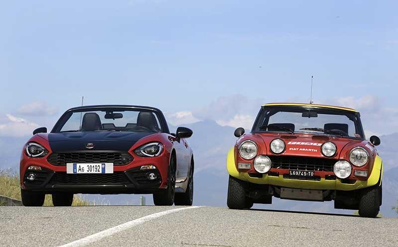 """FCA protagonista di """"Milano AutoClassica""""_abarth_124-spider-moderno-fiat-124-abarth-rally_MilanoPlatinum"""