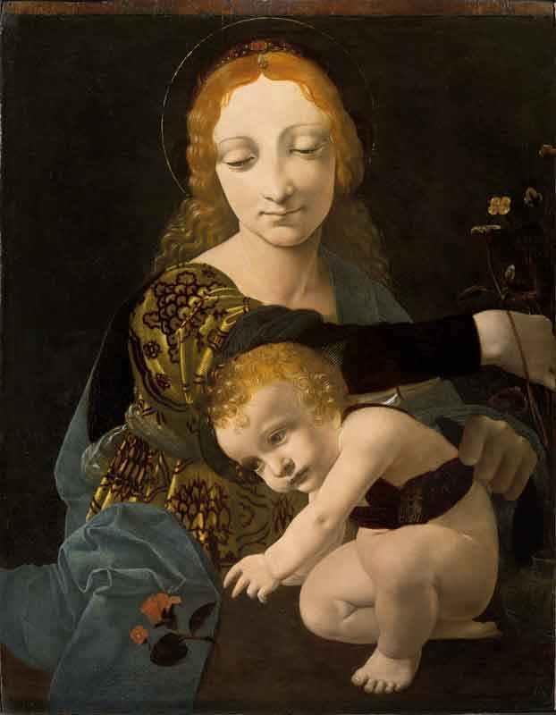 Giovanni Antonio Boltraffio (Milano, 1467 – 1516) Madonna con Bambino (Madonna del fiore) Olio su tavola, c. 1487 – 1488 © Milano, Museo Poldi Pezzoli, inv. 1609