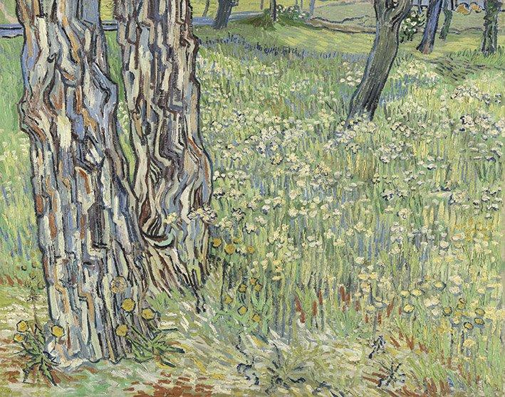 Autore: Van Gogh Vincent (1853-1890) Titolo: Tronchi nell'erba Anno: 1890 Tecnica: Olio su tela Dim SC: cm 72,5 x 91,5 Prestatore: Collection Kröller-Müller Museum, Otterlo, the Netherlands Crediti fotografici: Photography Rik Klein Gotink, Harderwijk