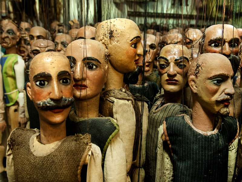 Atelier Carlo Colla & Figli, Milano. Stanza delle marionette