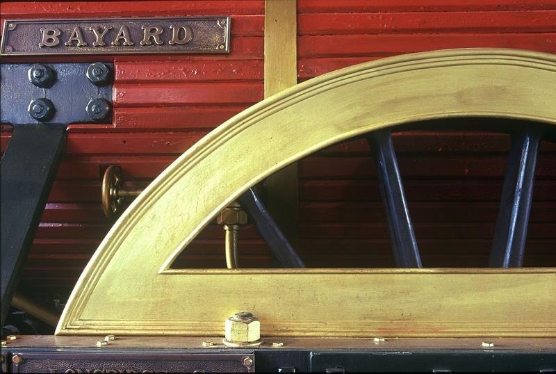 Dettaglio della locomotiva Bayard