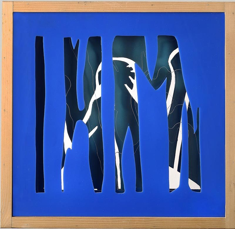 3D -  Senza titolo, 1970 c. cm 43,4 x 43,4 x 6  L'opera è composta da 3 strati sagomati, 2 in plexiglas e l'ultimo in legno  Collezione privata