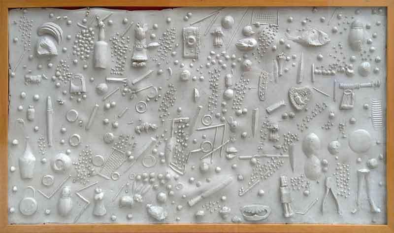 Impronta, 1964  Gomma  cm 68 x 107,7  Collezione Privata