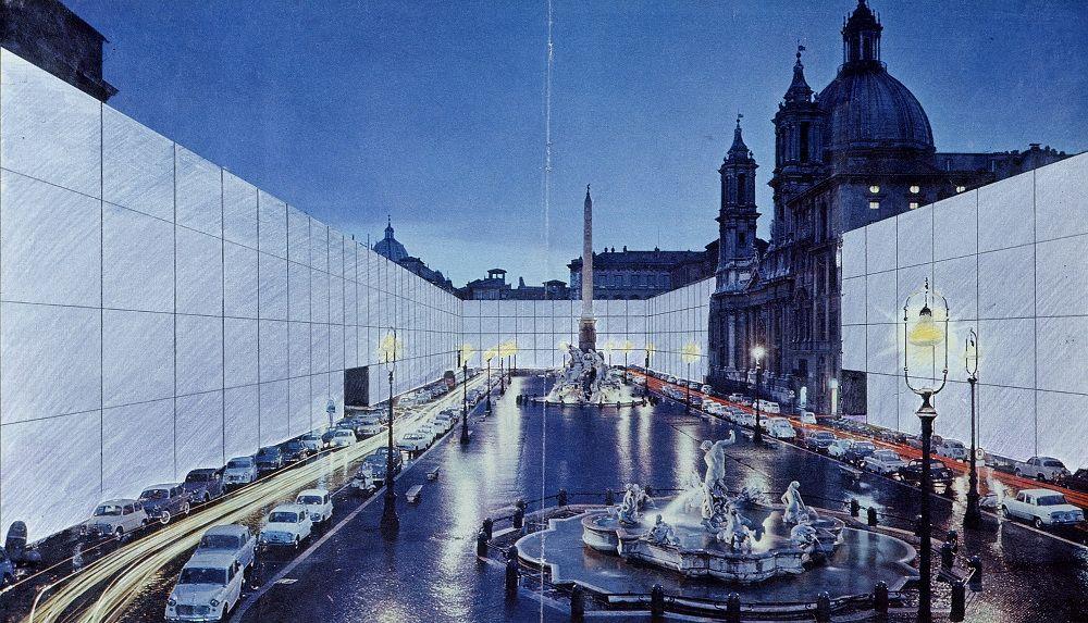 Mostra Super Superstudio_Superstudio, Il Monumento Continuo, Piazza Navona, 1970 (courtesy pinksummer)_MilanoPlatinum