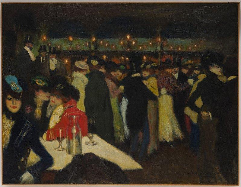 Pablo Picasso Le Moulin de la Galette, Parigi, ca. novembre 1900 Olio su tela, 88,2 x 115,5 cm  Solomon R. Guggenheim Museum, New York  Thannhauser Collection, Donazione Justin K. Thannhauser 78.2514.34  © Succession Picasso, by SIAE 2019