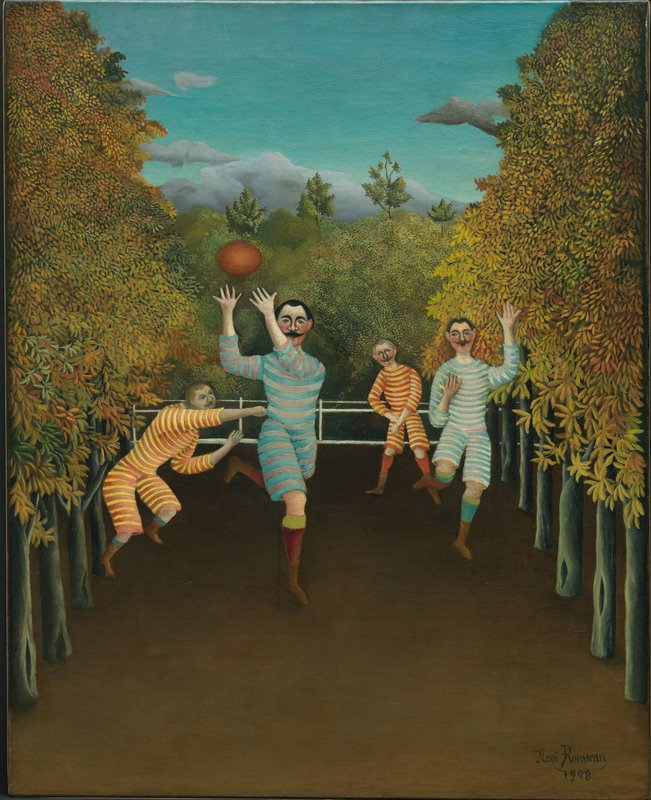 Henri Rousseau I giocatori di football (Les joueurs de football), 1908 Olio su tela, 100,3 x 80,3 cm Solomon R. Guggenheim Museum, New York  60.1583  © Solomon R. Guggenheim Foundation, New York (SRGF)