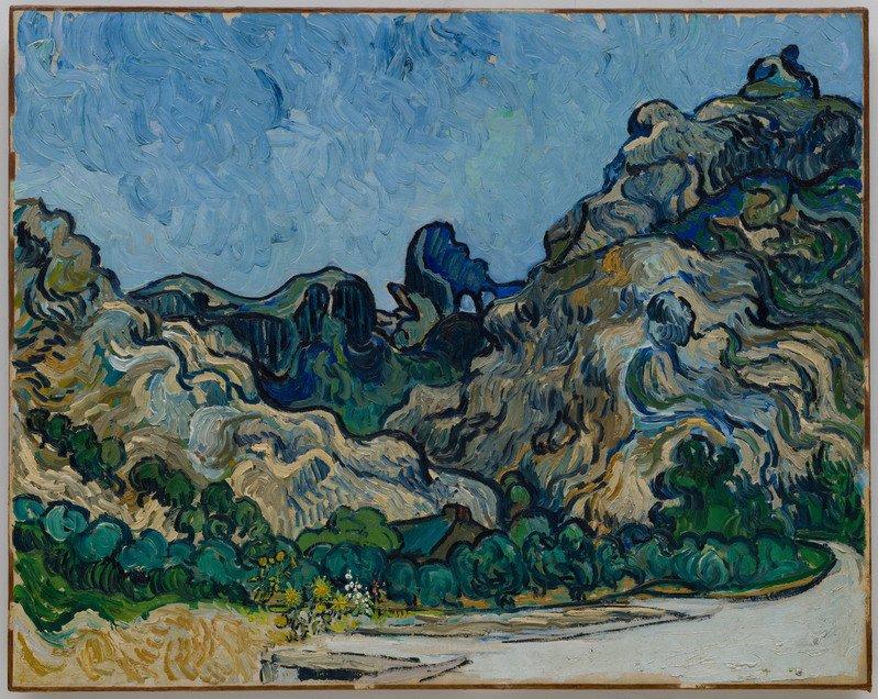 Vincent van Gogh  Montagne a Saint-Rémy (Montagnes à Saint-Rémy), Saint-Rémy-de-Provence, luglio 1889 Olio su tela, 72,8 × 92 cm Solomon R. Guggenheim Museum, New York Thannhauser Collection, Donazione Justin K. Thannhauser  78.2514.24  © Solomon R. Guggenheim Foundation, New York (SRGF)