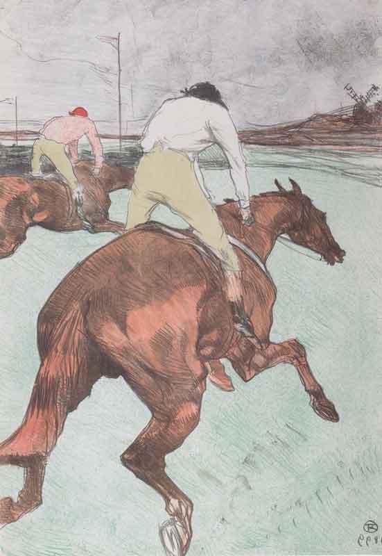 03_enri de Toulouse-Lautrec, Le jockey, 1899, litografia, collezione privata