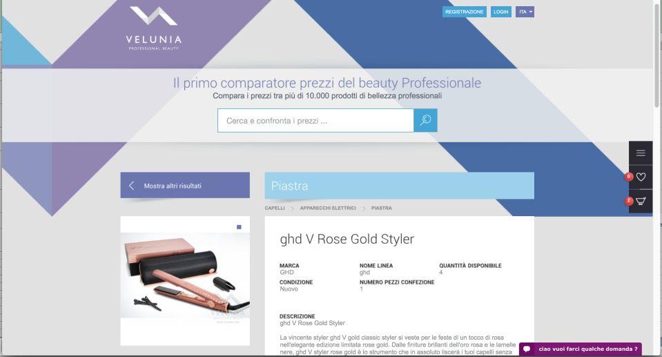 Velunia, il comparatore dedicato al beauty_velunia_MilanoPlatinum