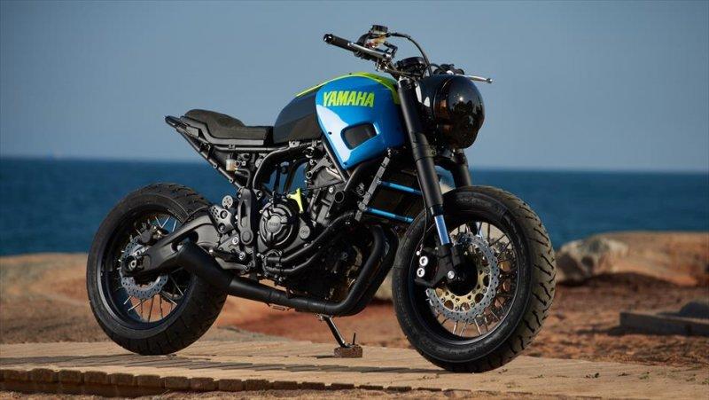 Moto Custom 'OTOKOMAE' by ADHOC, Yard Built su base Yamaha XSR 700_custom adhoc_MilanoPlatinum