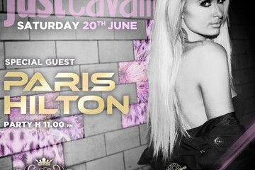 Paris Hilton in consolle al Just Cavalli
