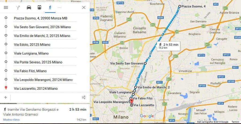 Passeggiata manzoniana - Mappa 1