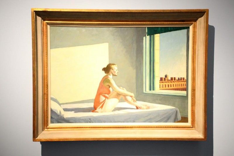 Edward Hopper, Morning Sun, 1923 (by Bruno Cordioli, Flikr.com)