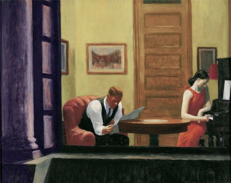 Edward Hopper - Room in New York (by Irina - Public Domain - Flikr)
