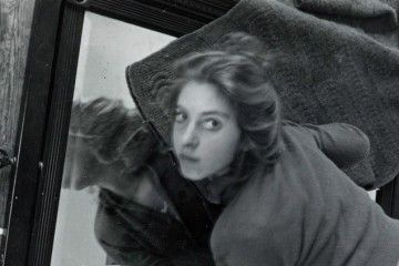 Francesca Woodman - Glass copy frame holding photo flat