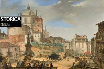 Milano-Piazza della Vetra (Olio su tela di Giuseppe Elena) - [credits: Milano sparita da ricordare]