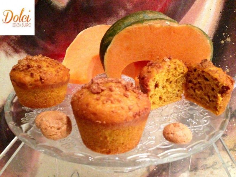 Muffin alla Zucca e Amaretti Senza Burro - Dolci Senza Burro