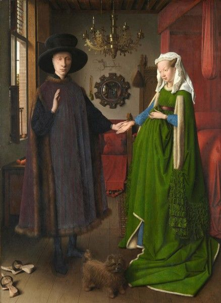 Van Eyck - Ritratto dei coniugi Arnolfini -[Public domain] via Wikimedia Commons
