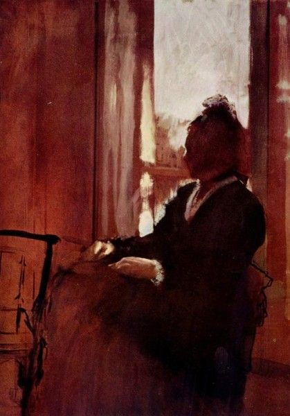 Edgar Degas - Donna a una finestra (1872)