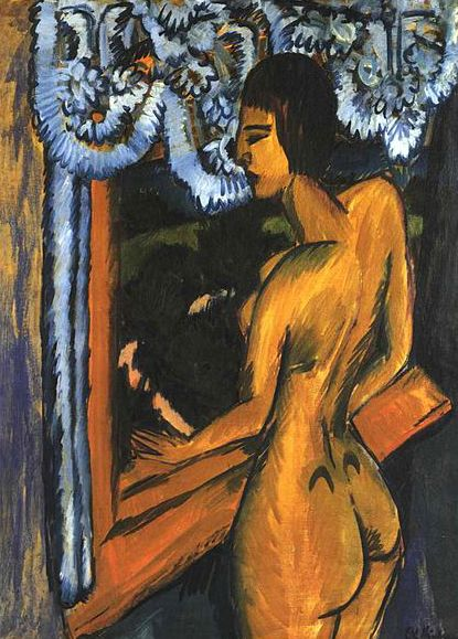 Ernst Ludwig Kirchner - Brauner Akt am Fenster, 1912