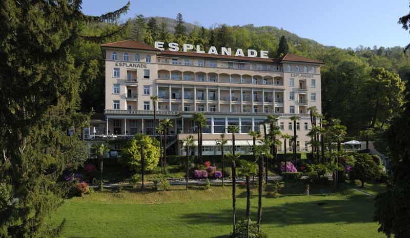 Esplanade hotel perla mediterranea nel canton ticino for Design hotel tessin