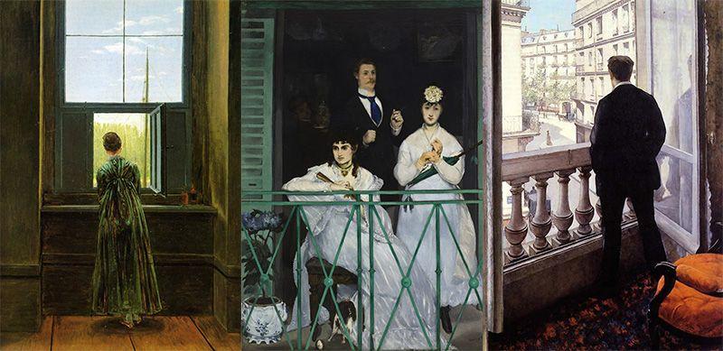 Romanticismo e impressionismo - Quadri con finestre ...