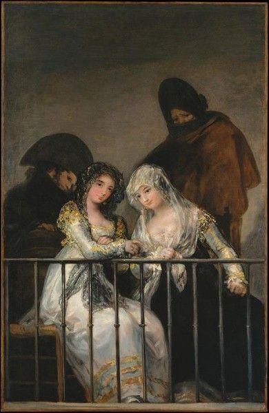 Francisco de Goya y Lucientes - Mayas al balcone
