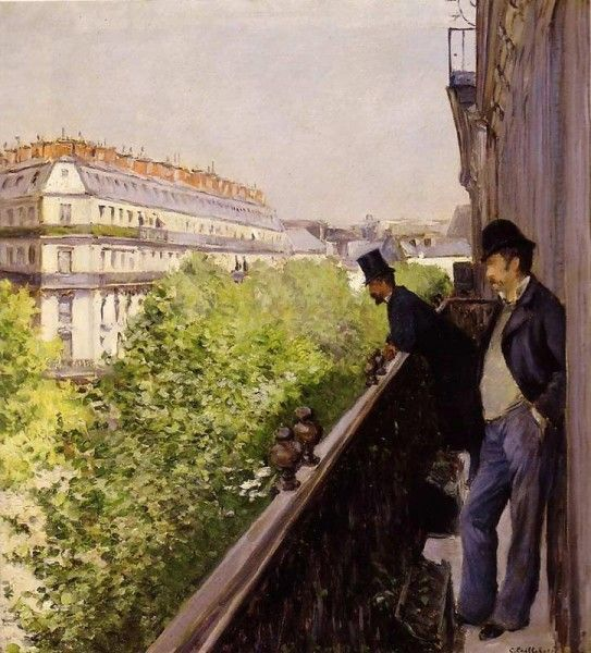 Gustave Caillebotte - Un balcon (1880)