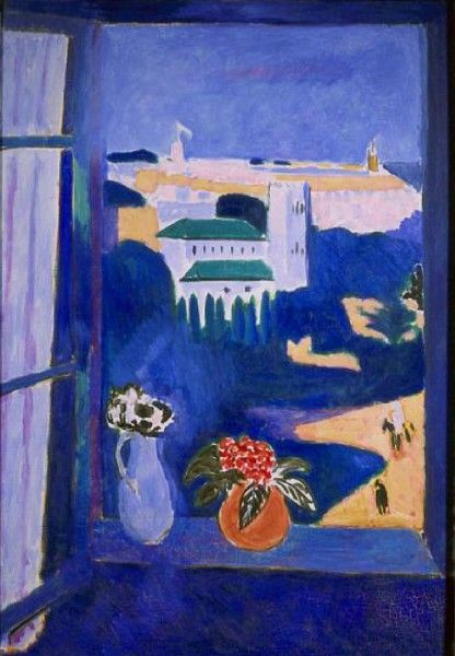 Henri Matisse - La glace sans tain (The Blue Window), 1913.
