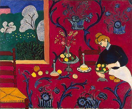 Henri Matisse - La stanza rossa (Armonia in rosso), 1908, Museo dell'Ermitage, San Pietroburgo.