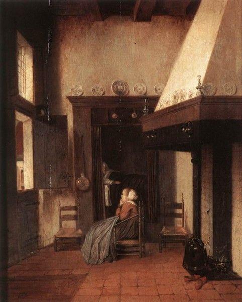 Jacobus Vrel - The Hospital Orderly (Koninklijk Museum voor Schone Kunsten, Antwerp)