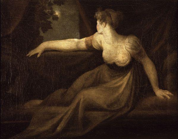 Johann Heinrich Füssli - Signora alla finestra al chiaro di luna