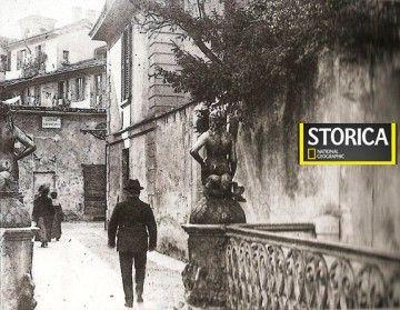 LE SORELLE GHISINI E MELUSINA - Il ponte delle Sirenette sul Naviglio a fine Ottocento (credits Milano Sparita e da Ricordare)