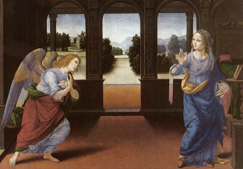 Lorenzo Di Credi - Annunciazione, 1480, Galleria degli Uffizi, Firenze
