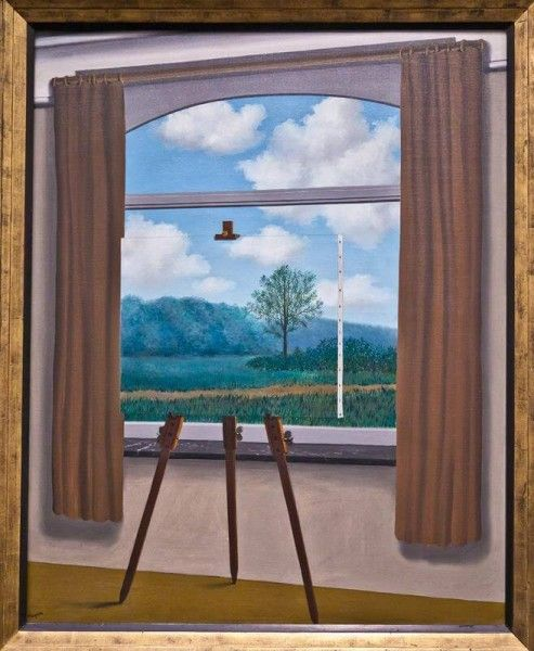 René Magritte - Condizione umana, 1933, National Gallery of Art di Washington (Flikr.com)
