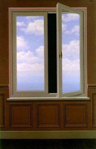 René Magritte - La lunette d'approche (Il telescopio), 1963 (Flikr.com Creative Commons)