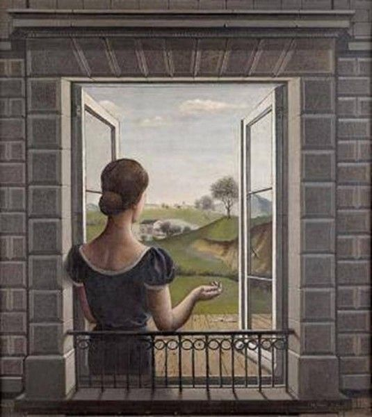 Paul Delvaux - La fenêtre, 1936, Musée d'Ixelles, Bruxelles (Flikr.com Creative Commons)