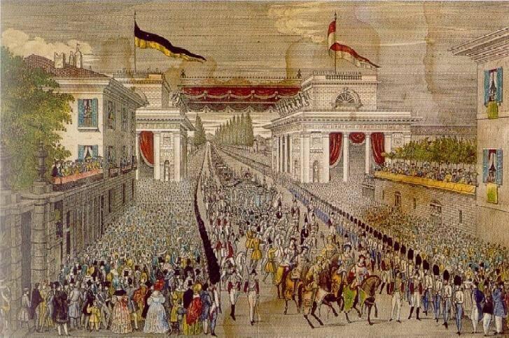 Ingresso solenne a Milano dell'imperatore Ferdinando I d'Asburgo-Lorena.